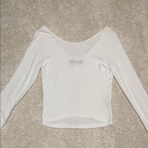 Brandy Melville low back ripped long sleeve top